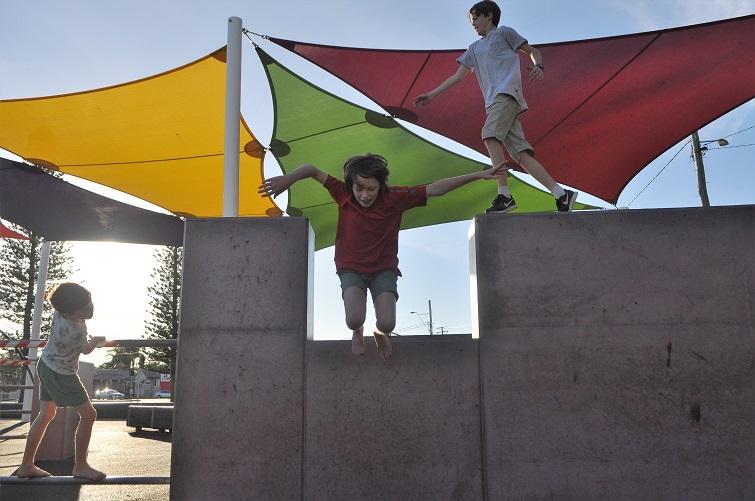 kids doing parkour