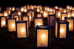 lanterns burning, lantern parade, winter lantern parade,