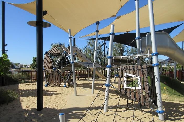climbing net in a brisbane playground