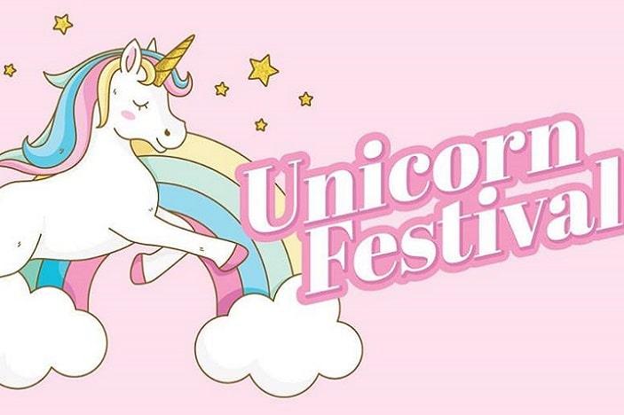 unicorn festival, unicorn, rainbow, stars, rainbow unicorn