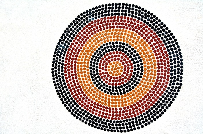 Indigenous Australian art Dot painting.