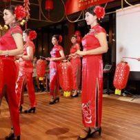 harvest moon festival, lanterns, dancing
