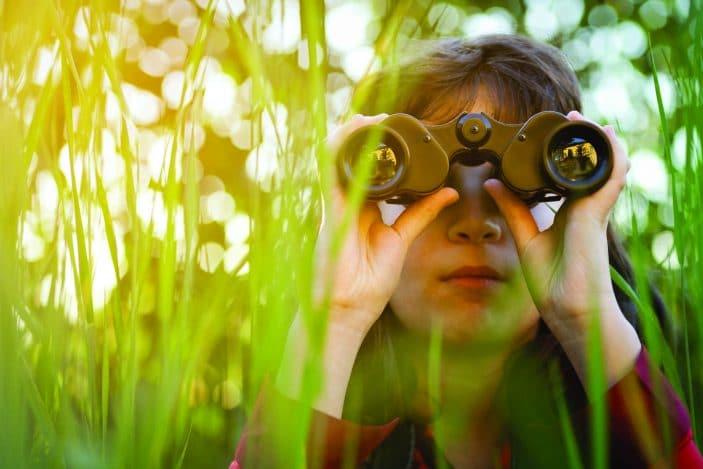 Enviro Kids day in the Park, bird watching, binoculars