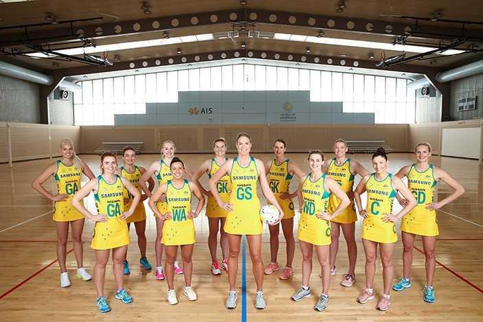 Samsung Diamonds Australian Netball team pic