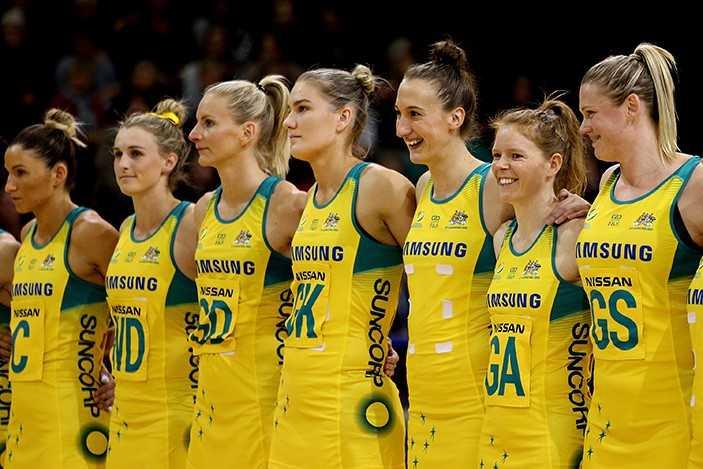 Samsung Diamonds Australian Netball team