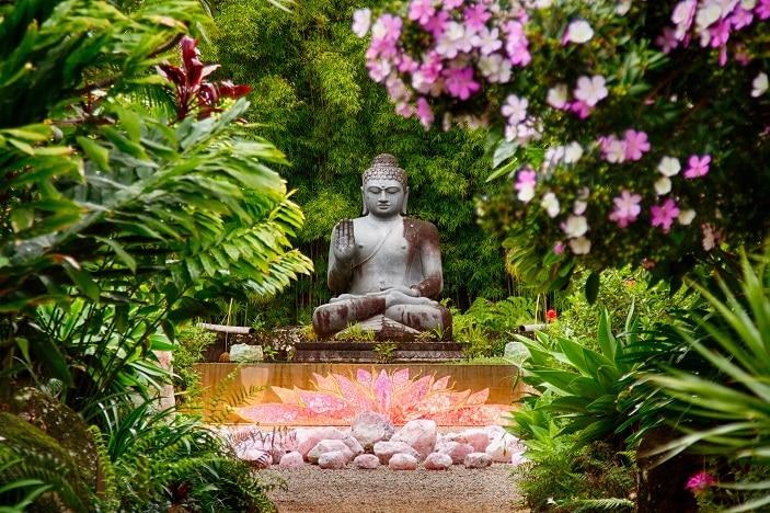 buddha garden crystal castle
