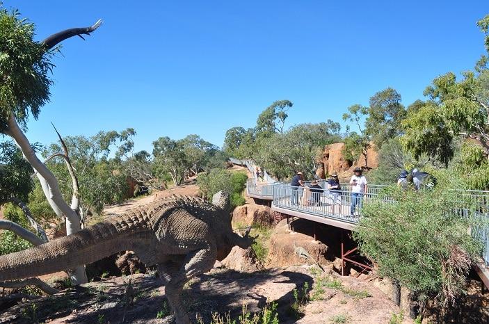 Dinosaur Stampede Recreation