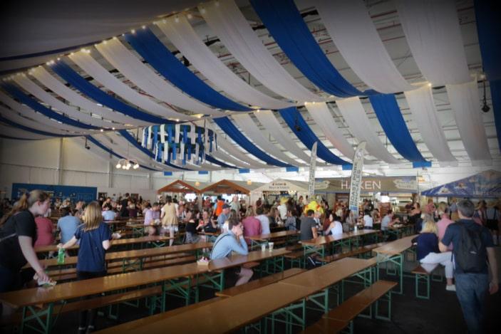 Inside tent at Oktoberfest Brisbane