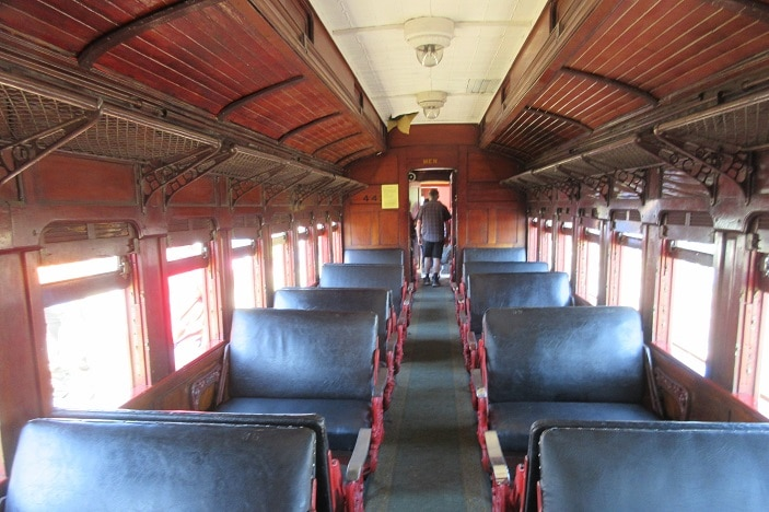 inside of steam train cabin