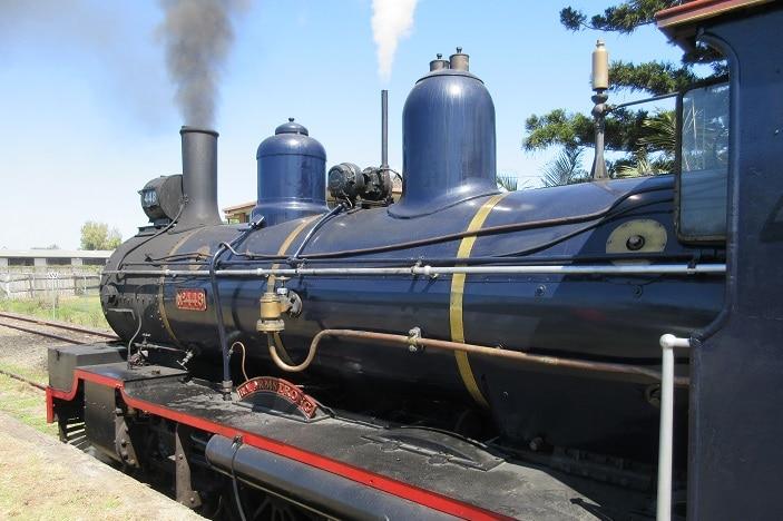 engine room of pioneer steam train