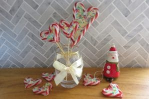 Candy cane treats