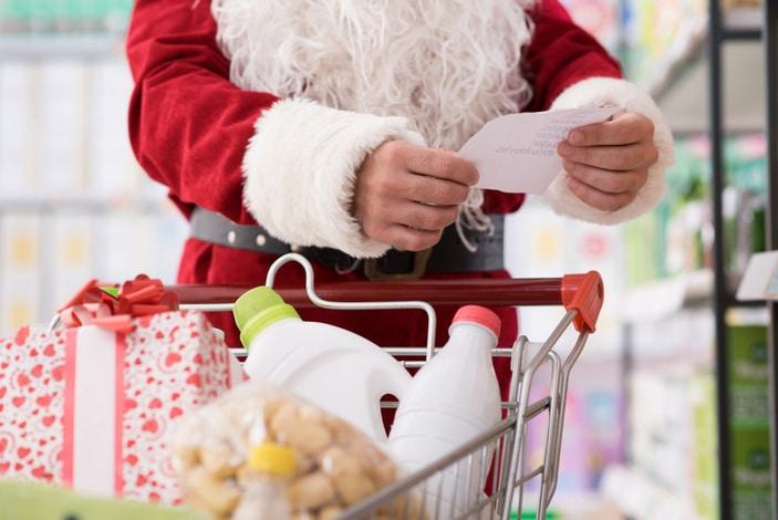 Santa Claus with a shopping list