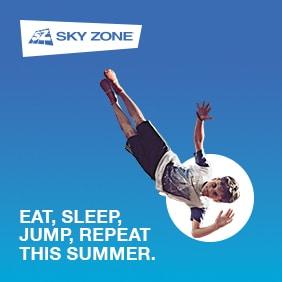 Skyzone Jumping Kid Logo Brisbane