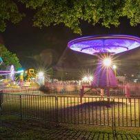 greater springfield fun fair, rides at night, carnival rides. lights