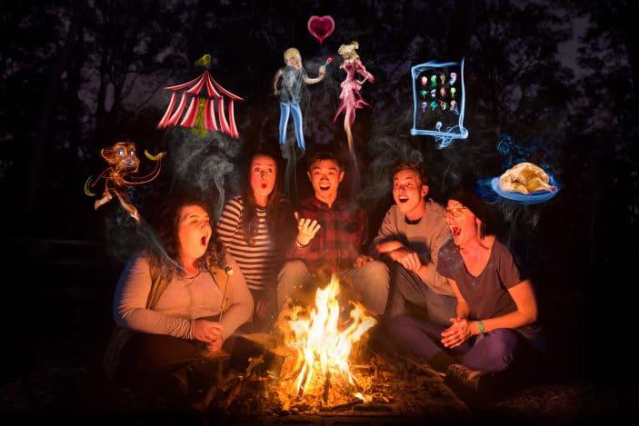 Around the Campfire , Brisbane Comedy Festival, theatre, kids, campfire