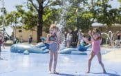 waterplay, 2 girls, brisbane, fountains