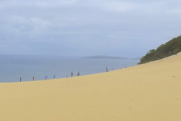 People on sand dunes