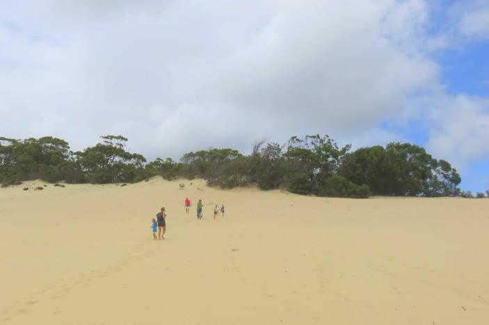 People on sand dunes