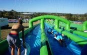 slip'n'slide, waterslide, 2 lanes