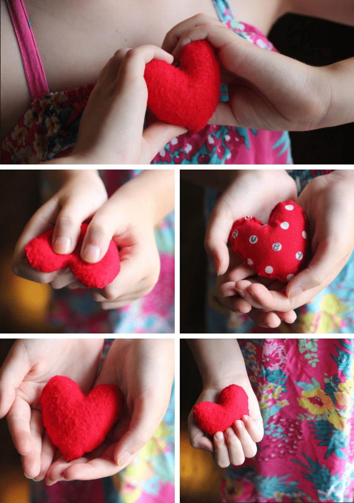 felt love heart for comfort