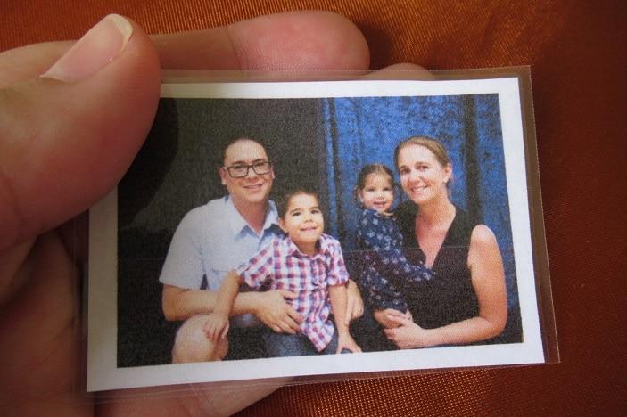 photo of family, 2 parents, 2 children