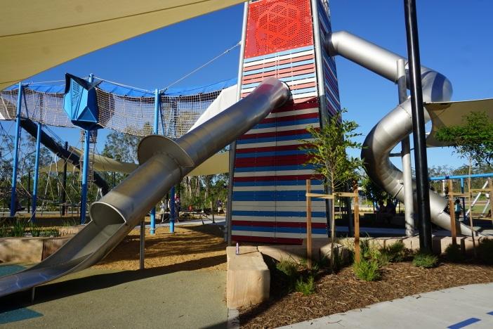 huge slide at flagstone adventure park