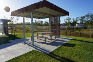 flagstone picnic shelter