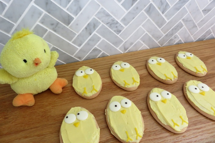 Easter decorated biscuits