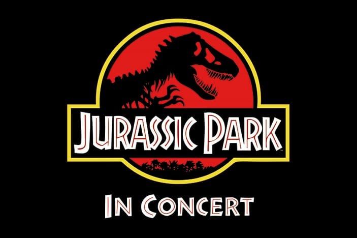 Jurassic Park Logo, Jurassic Park in Concert, Black background