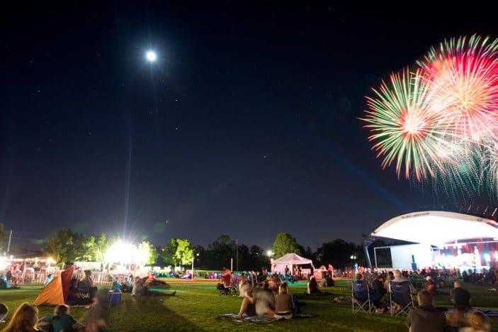 park vibes, fireworks, family festival