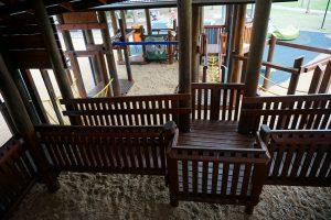 boardwalk in kidspace playground