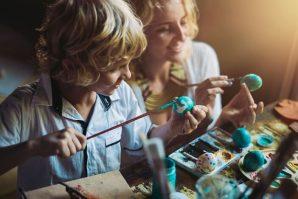 brisbane easter for kids, easter, kids, egg painting