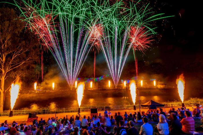 fireworks, ipswich, riverlink