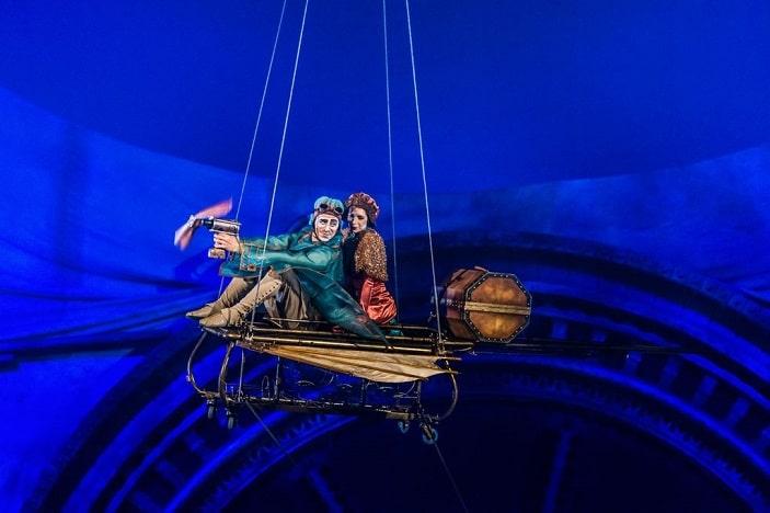 Kurious cirque du soleil performers flying