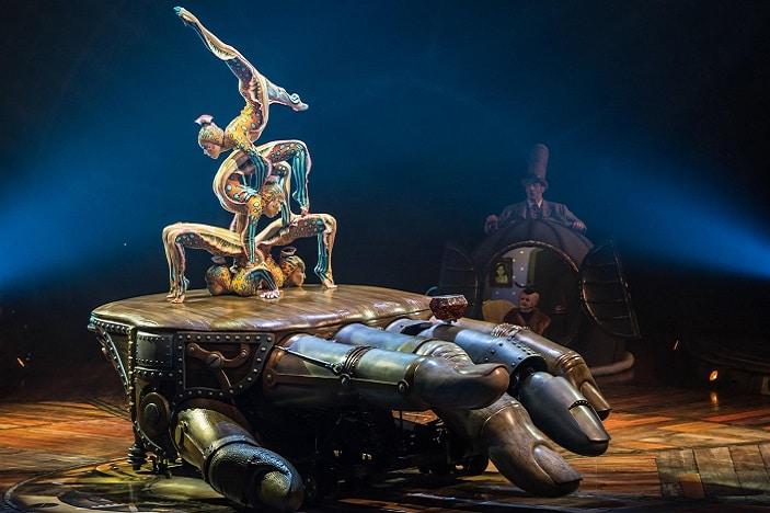 Kurious cirque du Soleil, acrobatics on mechanical hand