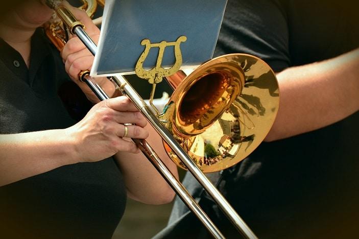 trumpet-brass band, music sheet