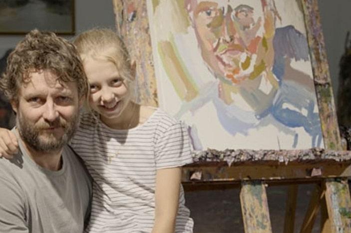 Ben-Quilty_GOMA, family portrait, painting, art, portrait on easel