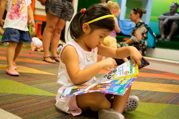 carindale library, books brisbane, child reading