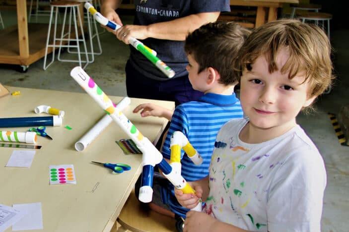 marshmallow gun, kids craft, kids workshop