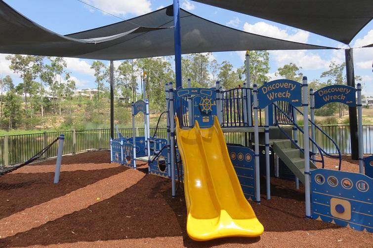 slides in a playground, springfield playground