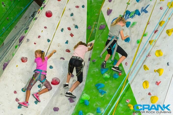 kids climbing, rock climbing wall