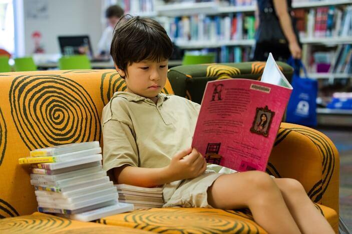 child reading brisbane