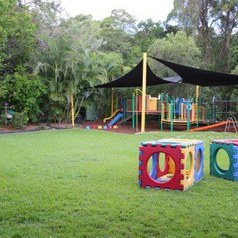 Nature Playground Albany Creek Kindy, playground equipment