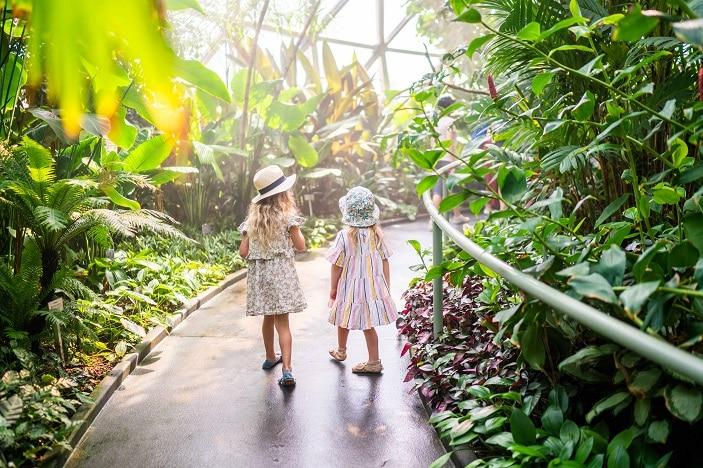 Two girls at Brisbane Botanic Gardens Mount Coot-tha. Photo supplied by Brisbane City Council