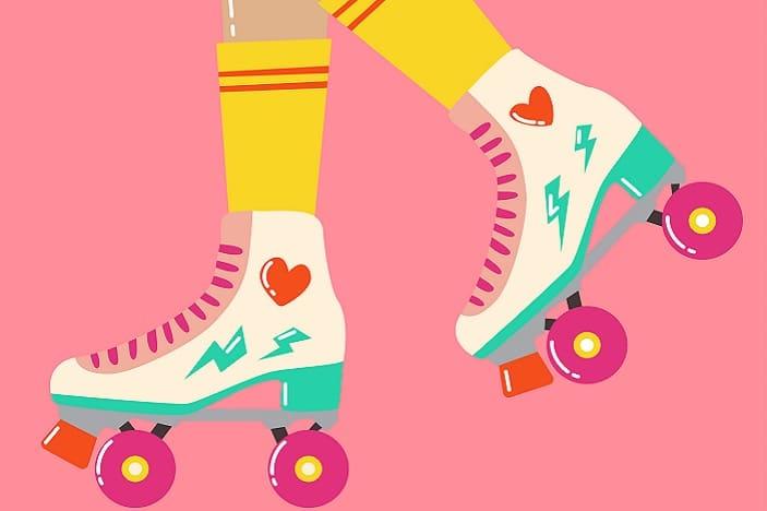 roller skate, roller disco