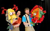 he twits live stage show puppets, Mr and Mrs Twit