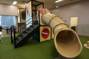 slide and indoor playground