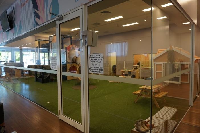 child friendly cafe playground