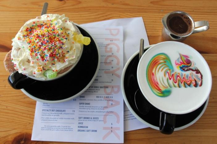best hot chocolate in Brisbane, Piggy Back Cafe, Jindalee cafe