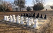 Giant Chess set and Country Style Caravan Park in Stanthorpe